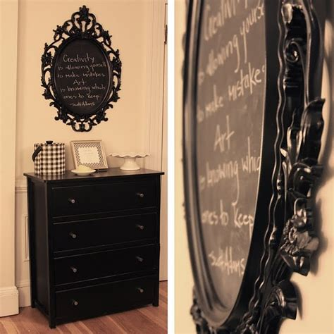 Mirror Painted With Chalkboard Paint Craftiness