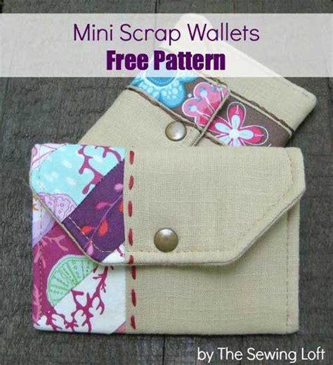 free pattern wallet mini scrap wallets free sewing pattern love to sew