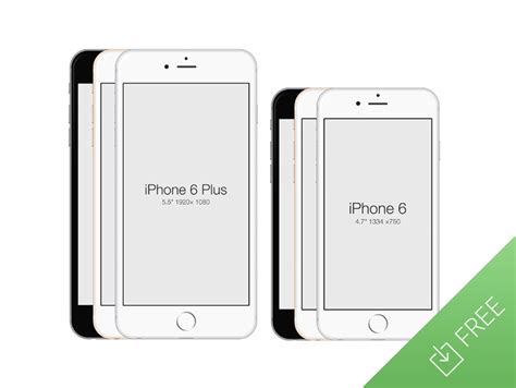 collection of best free quot iphone 6 quot mockup design templates