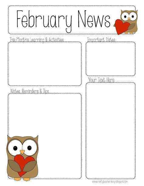 february newsletter template 2 february newsletters teaching ideas pinterest february newsletter templates and teacher