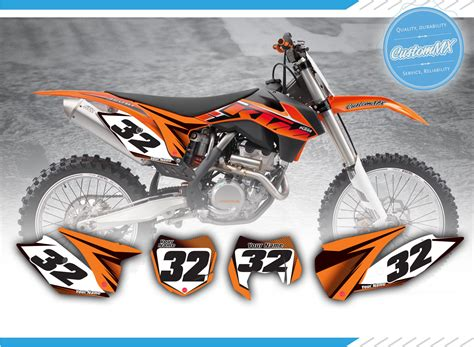 Ktm Decals Uk Bg6 Series Ktm Sx Sxf Exc Exc F Backgrounds Kit With