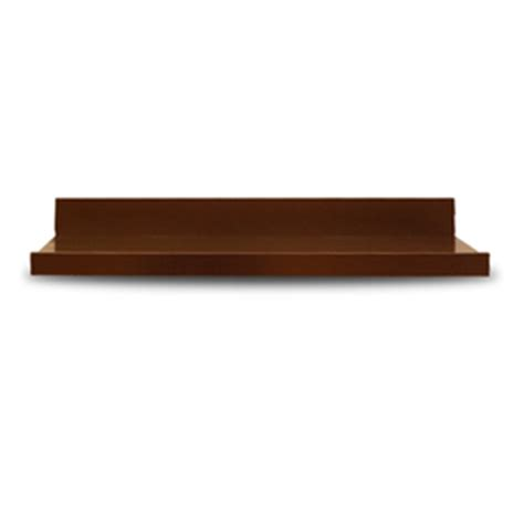 lowes wood shelving shop allen roth 27 in wood wall mounted shelving at
