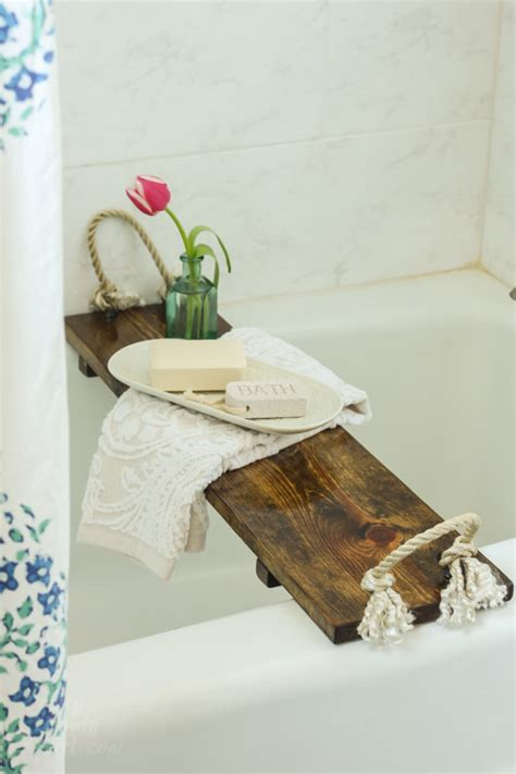 bathtub tray wood free plans diy bath tub tray tutorial