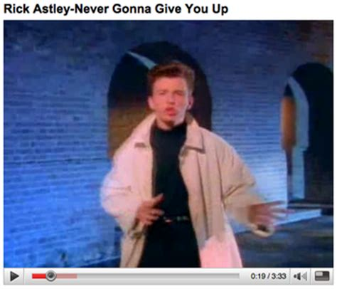 Rick Astley Never Gonna Give You Up Meme - image gallery rick roll