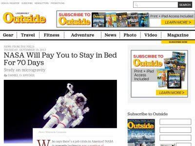 nasa stay in bed for 70 days 仕事速報 ベットで寝てるだけで180万円 nasaがバイトを募集中してるぞぉぉぉぉぉ 急げ はちま起稿