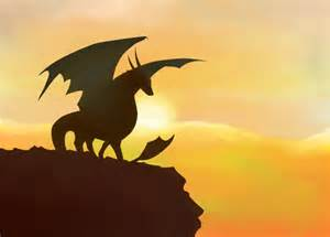 dragon silhouette by silverrain23 on deviantart