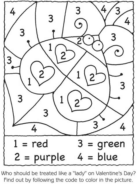 color by number valentine coloring pages valentine color by number coloring home