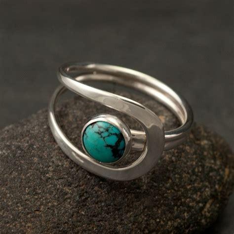 turquoise ring turquoise gemstone ring silver turquoise