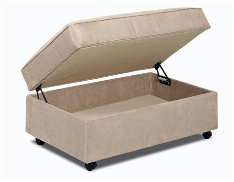 storage ottoman on wheels gillis storage ottoman with lift top and casters by