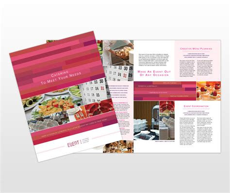 corporate event planner caterer brochure template design catering corporate event planning services business