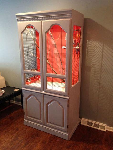 aviary    repurposed armoire easy diy furniture