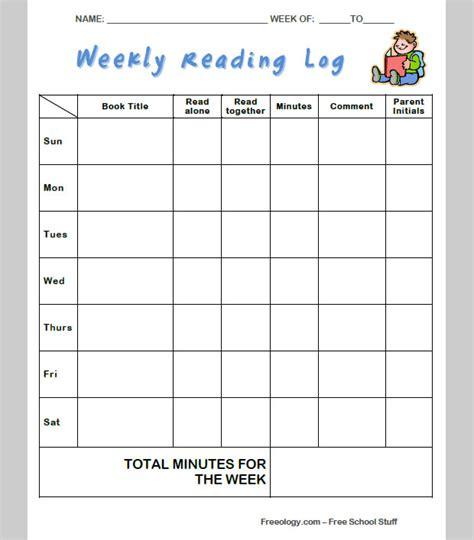 Reading Log Template Elementary by Weekly Reading Log Template 5th Grade Best Photos Of