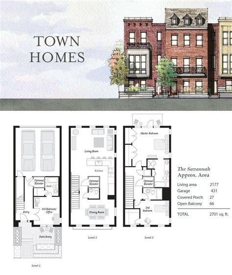 townhouse house plans the savannah nashville townhouses germantown 4thandm com townhouse pinterest small