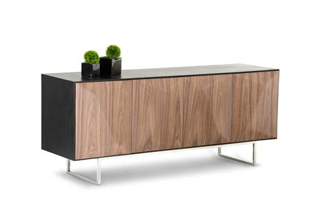 modrest vanguard modern wenge buffet w walnut doors