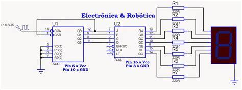 Lcd 14 1a contador de 0 a 9 con display de 7 segmentos de c 225 todo