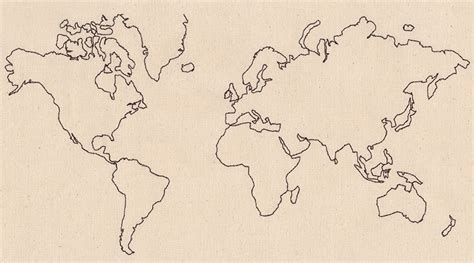 Embroidery Design World Map | wanderlust world map urban threads unique and awesome