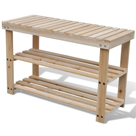 shoe rack bench vidaxl co uk 2 in 1 wooden shoe rack with bench top durable