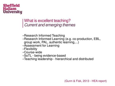 emerging themes definition ppt what does it mean to be an inspirational teacher