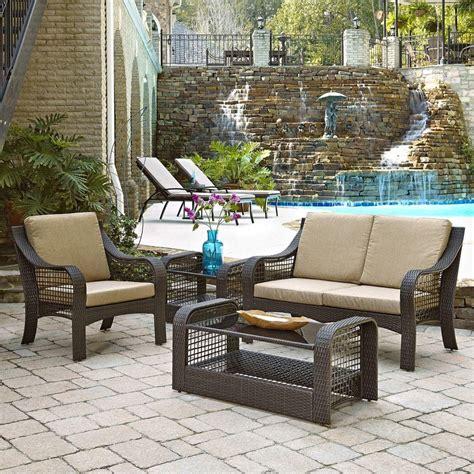 hton bay bolingbrook patio loveseat with sunbrella spectrum mist cushions d13106 lv the
