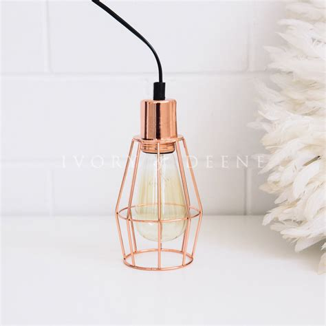 industrial wire copper cage pendant light small buy