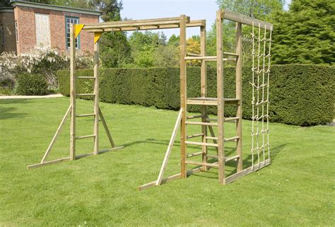 monkey bars with climbing ropes outside pinterest