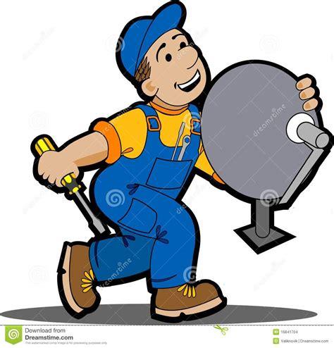 Dish Installer by Satellite Installer Stock Images Image 16841704