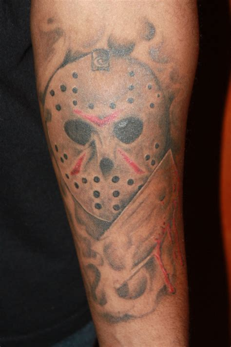 jason mask tattoo jason mask with knife picture