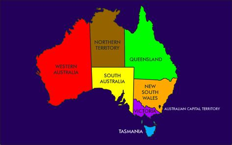 map of australia with states australia states rs01 mapsof net