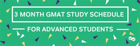 Mba Gmat Prep Is It Ok by 3 Month Gmat Study Schedule For Advanced Students