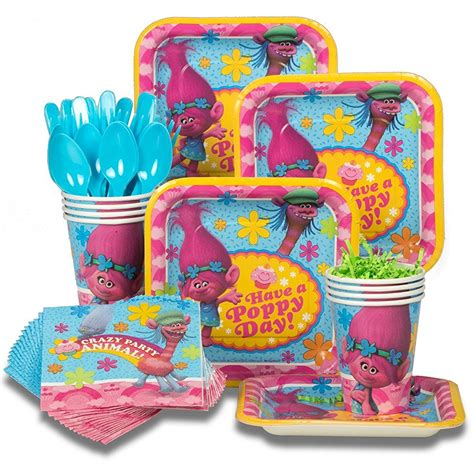 trolls birthday ideas and themed supplies