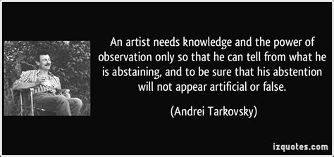 artist  knowledge   power  observation