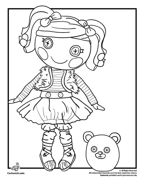 lalaloopsy thanksgiving coloring page mittens fluff n stuff doll lalaloopsy coloring page woo