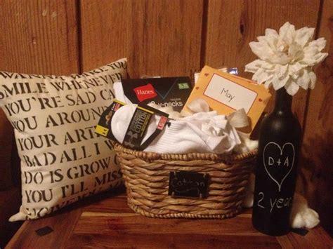 cotton anniversary gift basket  shirts socks cotton