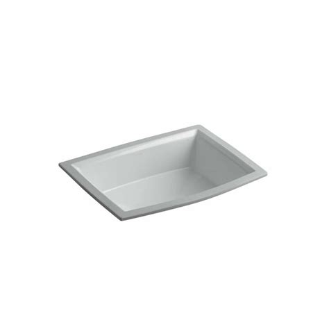 kohler archer undermount sink shop kohler archer biscuit undermount rectangular bathroom