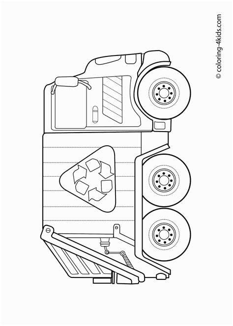 garbage truck coloring pages online garbage truck coloring page coloring pages