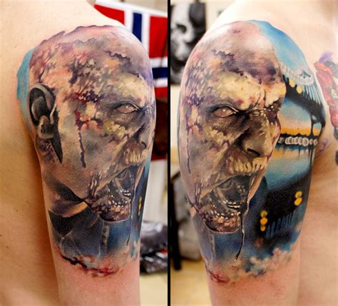 zombie tattoo gallery zombie tattoo on the hand tattooimages biz