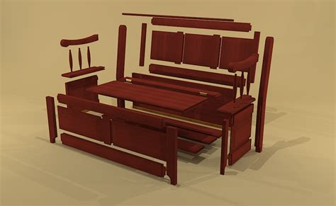 dining room storage bench creekside woodshop sketchup drawings