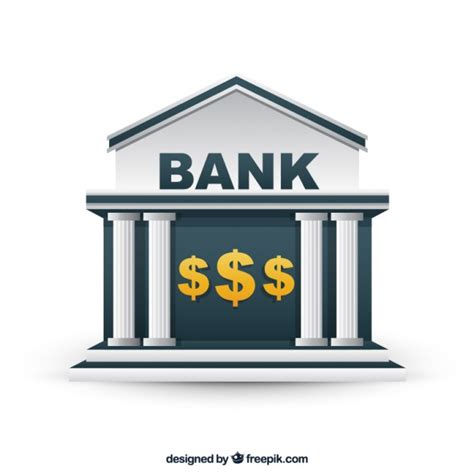 Bank Building Vector Free