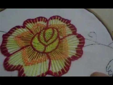 como bordar servilletas como bordar puntada fantas 237 a rosa peque 241 a youtube