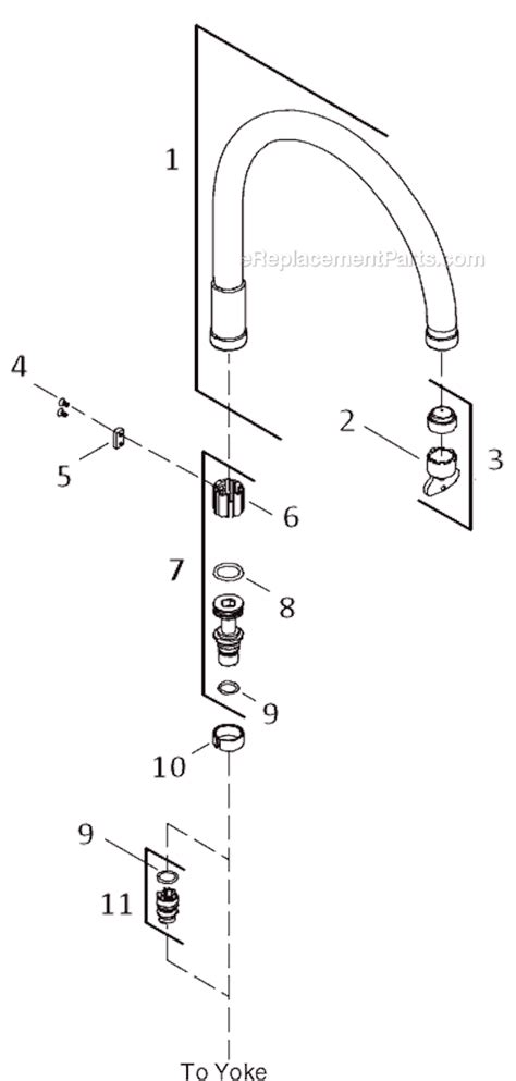 kohler k 6131 4 parts list and diagram ereplacementparts
