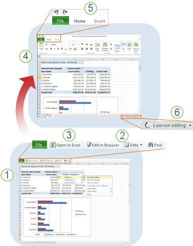 tutorial excel web app microsoft office tutorials excel web app at a glance