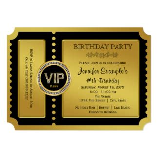 vip invitations announcements zazzle