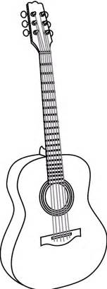 Guitar Clipart Outline by Acoustic Guitar Outline Clipart Best