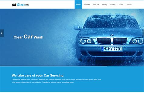 Car Wash Html Responsive Website Template Free Download Auto Detailing Website Templates
