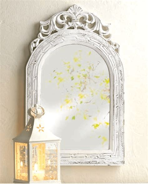 white shabby chic wall mirror shabby white chic arched wall mirror