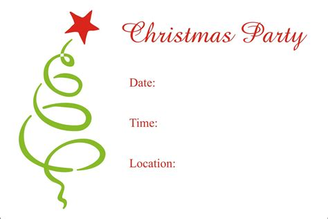 printable christmas invitation cards christmas party free printable holiday invitation
