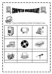free printable computer use worksheets computer hardware