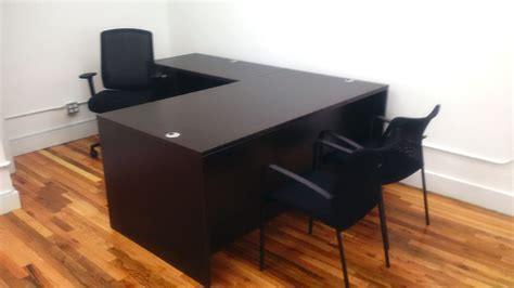 New L Shaped Desk With 2 File Cabinets Davena Office Refurbished Office Desks