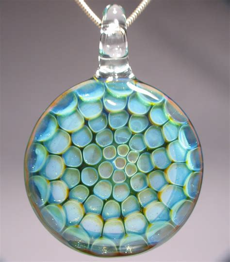 glass for jewelry honeycomb blown glass pendant jewelry journal