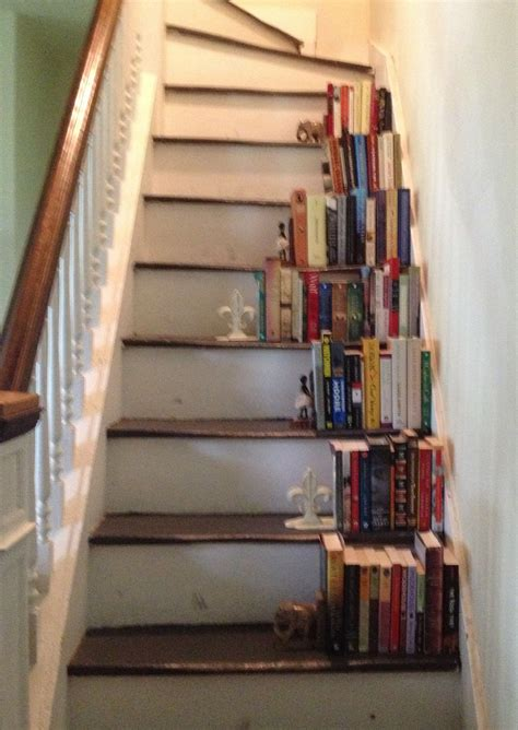 staircase bookshelves stairs bookcase side attic pinterest attic and